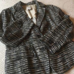 LOFT Linen Peplum Back Jacket